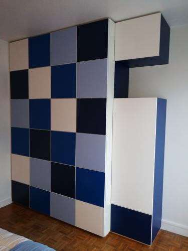Dressing-damier-bleu